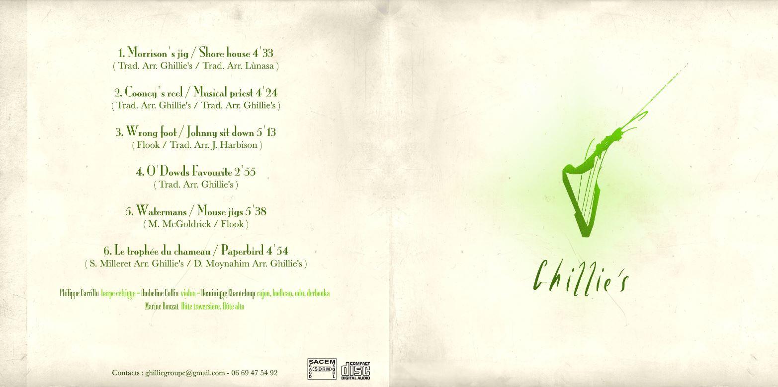 Album Ghillie's Irish and Folk music 2013