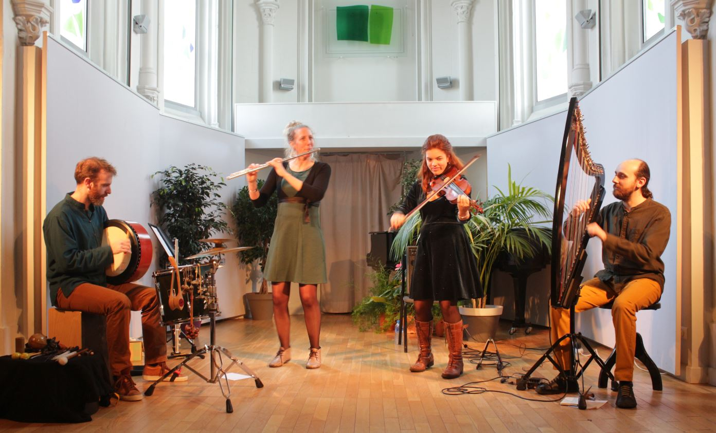 Concert Ghillie's Irish and Folk music médiathèque Olivet