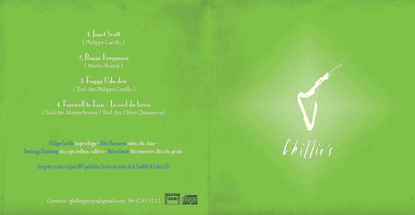 Album Ghillie's Irish and Folk music juin 2015