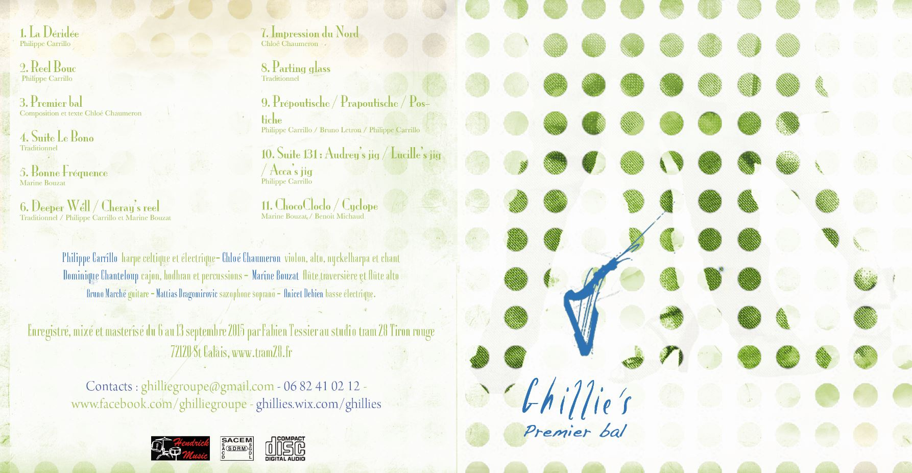 Album Ghillie's Irish and Folk music septembre 2015